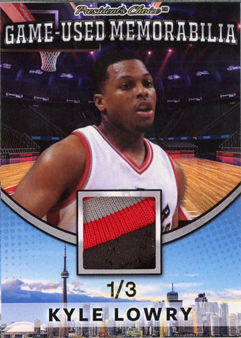 Kyle Lowry Game-Used Memorabilia /3