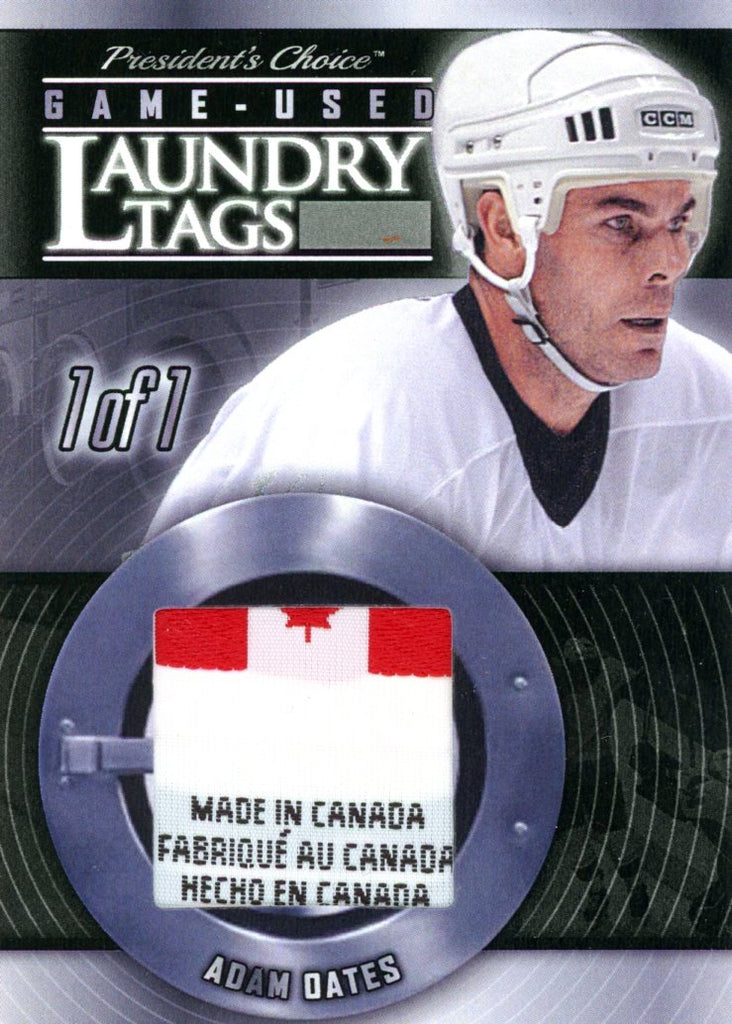 Adam Oates Laundry Tag #'d 1/1