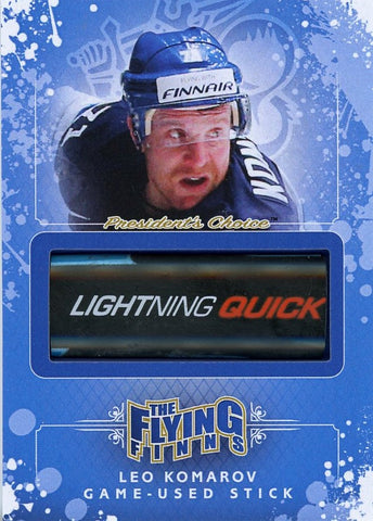 Leo Komarov Game-Used Stick /3