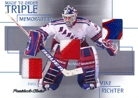 Mike Richter 1/1 Made To Order Triple Memorabilia
