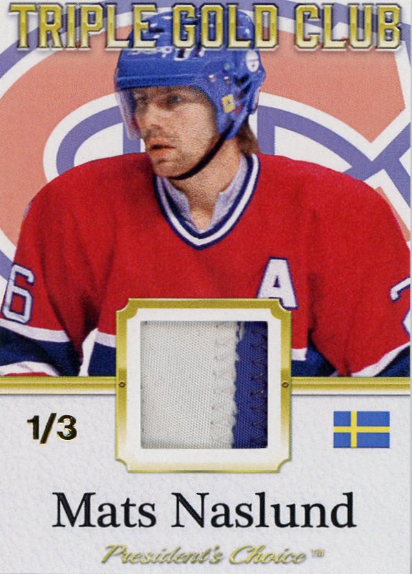 Mats Naslund Triple Gold Club /3
