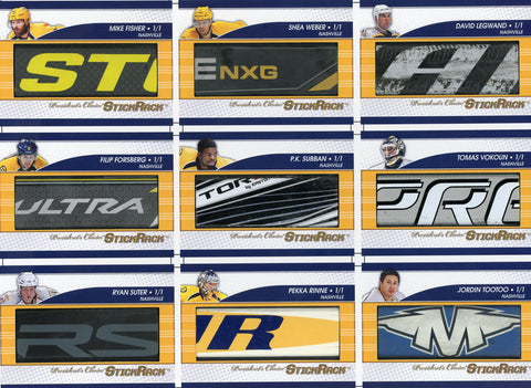 Nashville Predators Franchise Uncut Sheet /3