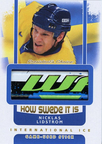 Nicklas Lidstrom Game-Used Stick /3