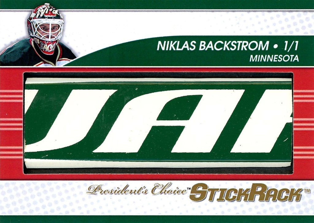 Niklas Backstrom StickRack 1/1