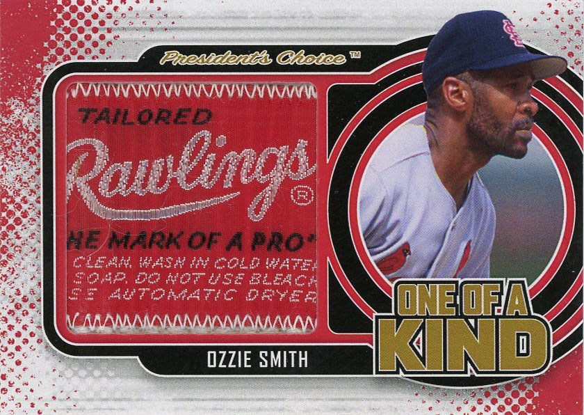 Ozzie Smith One of a Kind 1/1