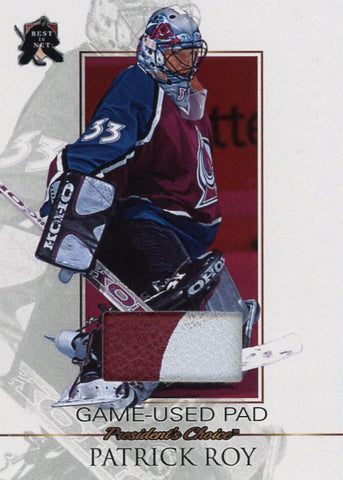 Patrick Roy Game-Used Pad /3 (Colorado)