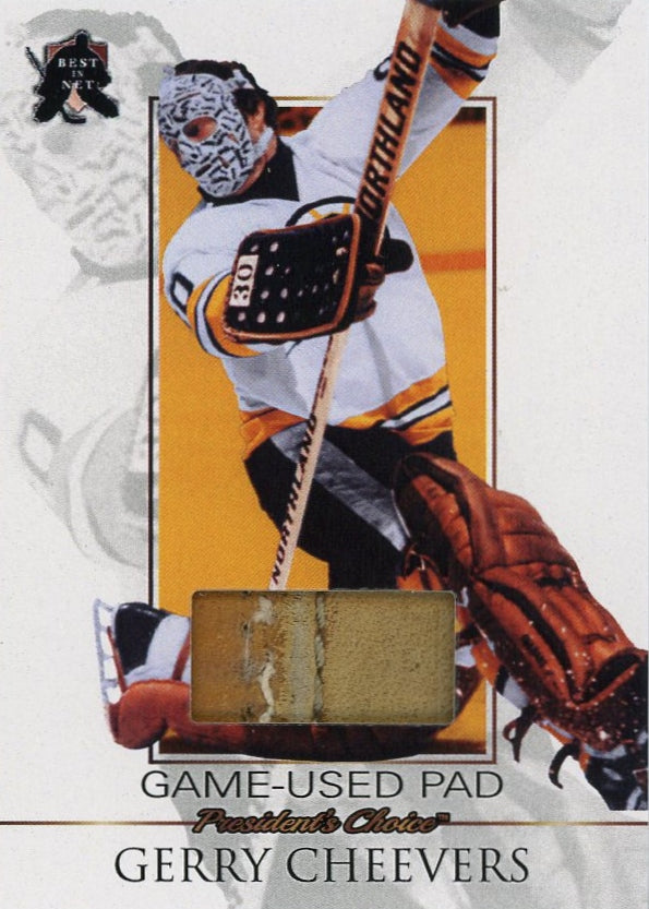 Gerry Cheevers Game-Used Pad /3