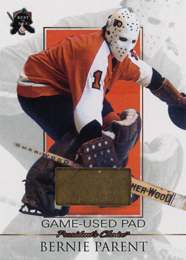 Bernie Parent Game-Used Pad /3