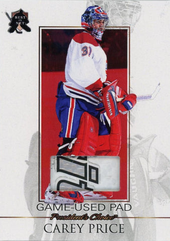 Carey Price Game-Used Pad /3
