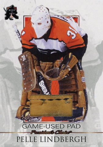 Pelle Lindbergh Game-Used Pad /3
