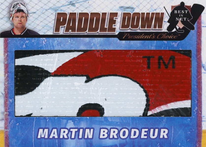 Martin Brodeur (New Jersey) Paddle Down /3