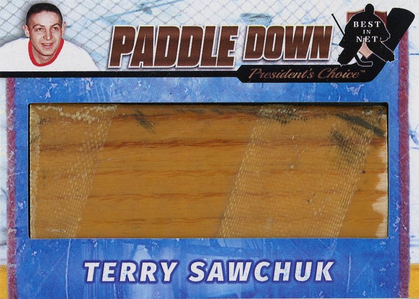 Terry Sawchuk (Detroit) Paddle Down /3