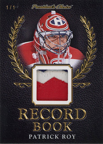 Patrick Roy Record Book 1/1