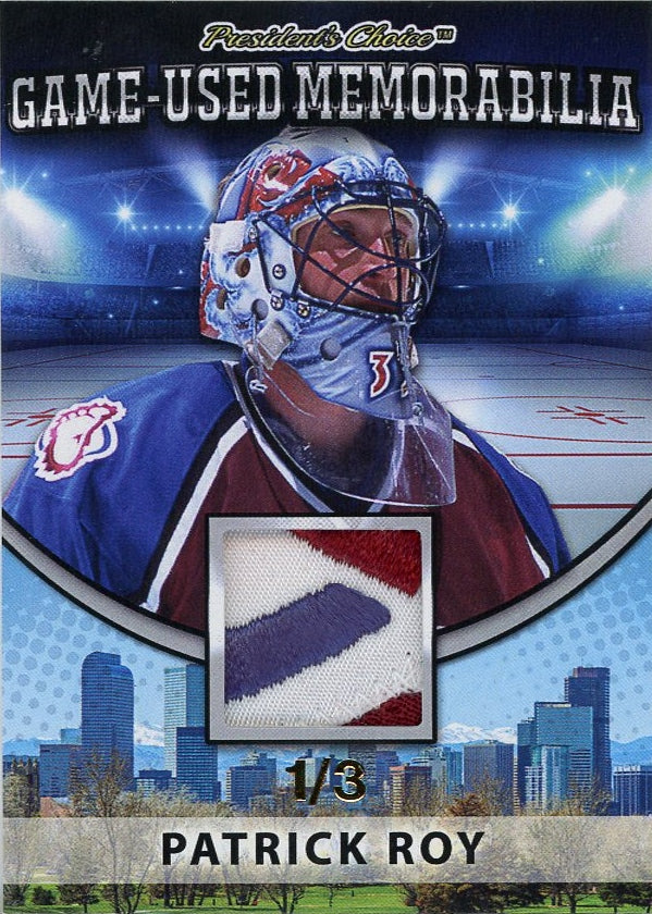 Patrick Roy (Colorado) Game-Used Memorabilia /3