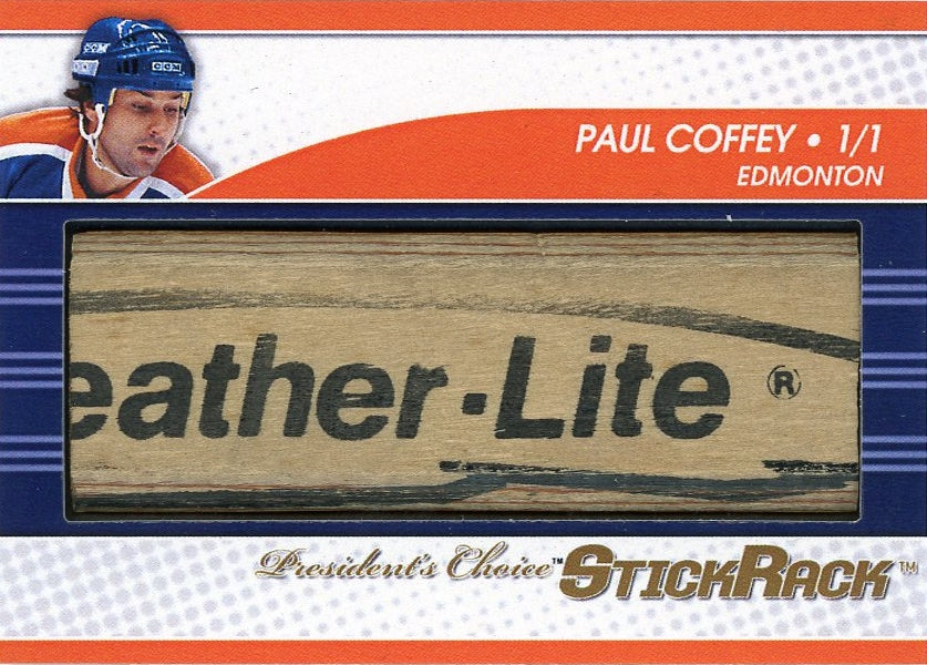 Paul Coffey StickRack 1/1 (Edmonton)