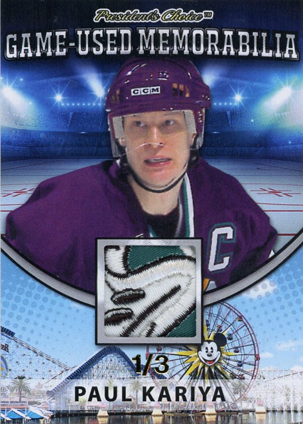 Paul Kariya Game-Used Memorabilia /3