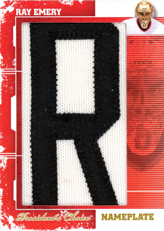 Ray Emery (R) Nameplates 1/1