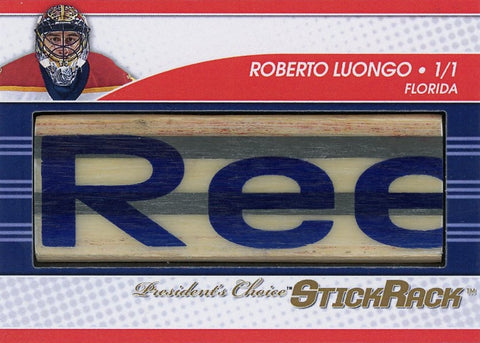 Roberto Luongo (mask down) StickRack 1/1