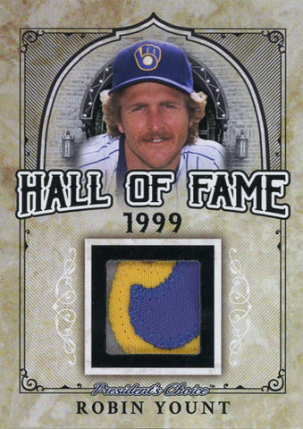 Robin Yount Hall of Fame 1/1