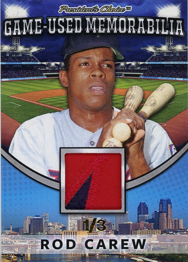Rod Carew Game-Used Memorabilia /3