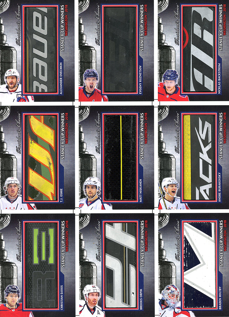 Washington Capitals 2018 Stanley Cup Winners Uncut Sheet /3