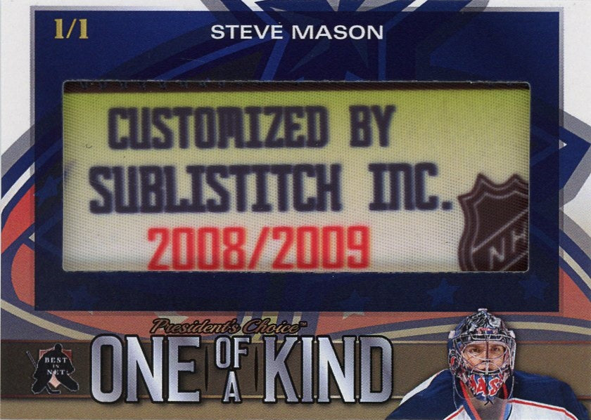 Steve Mason One of a Kind 1/1