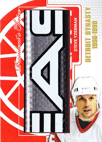 Steve Yzerman Detriot Dynasty StickRack 1/1