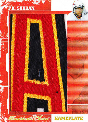 P.K. Subban (A) Nameplate 1/1
