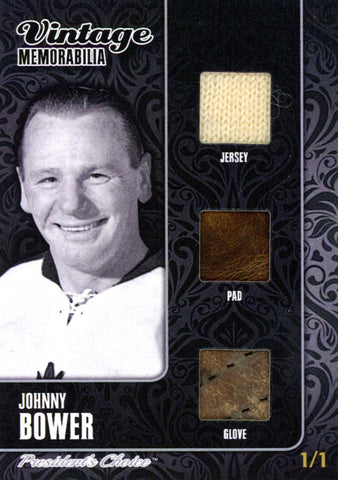 Johnny Bower 1/1 Vintage Memorabilia