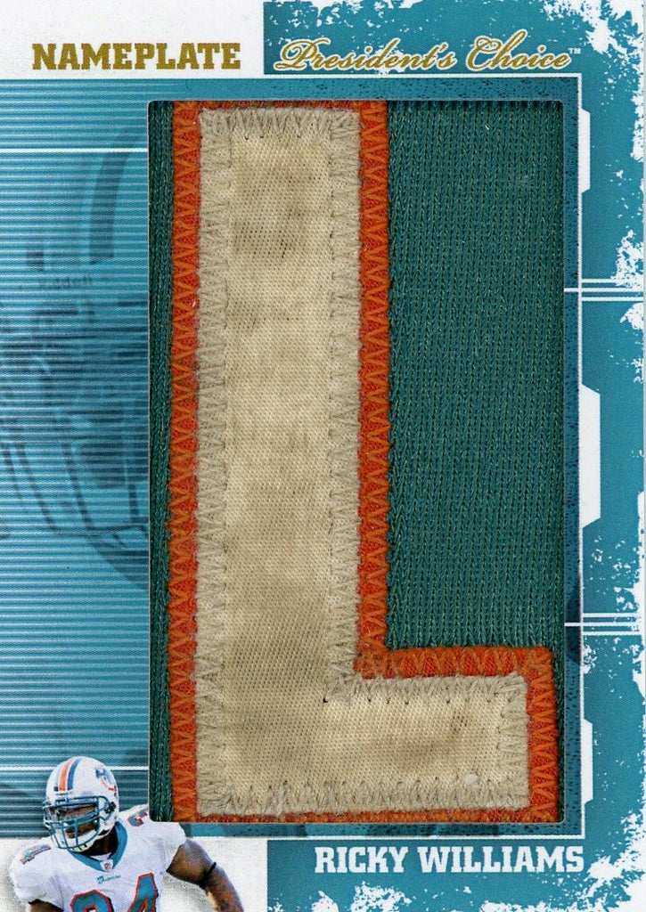 Ricky Williams (L) NamePlates 1/1