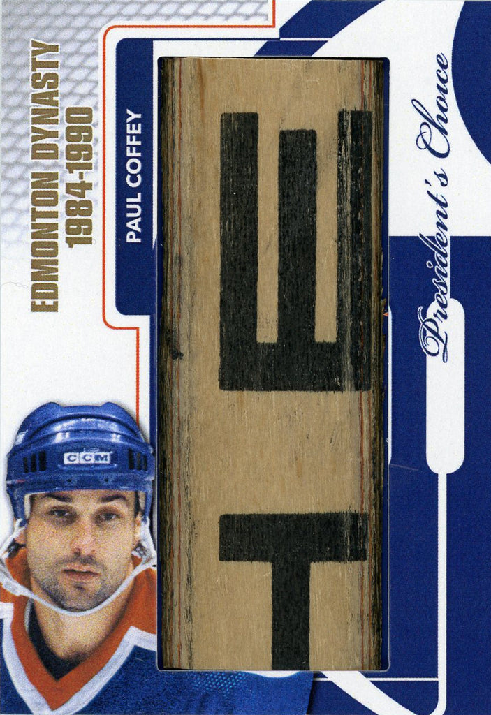 Paul Coffey Edmonton Dynasty StickRack 1/1