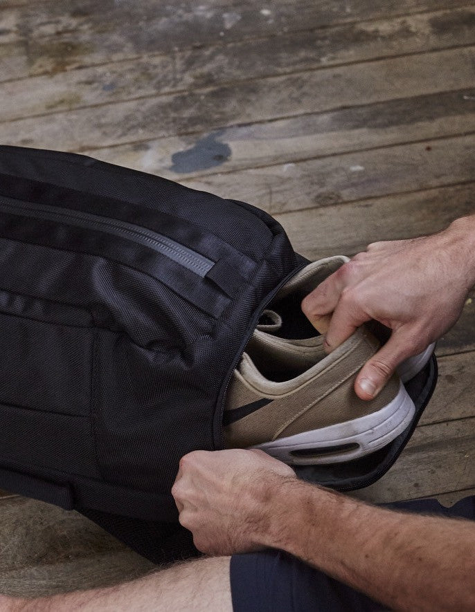Trainer pocket of black Aer Duffel Pack rucksack