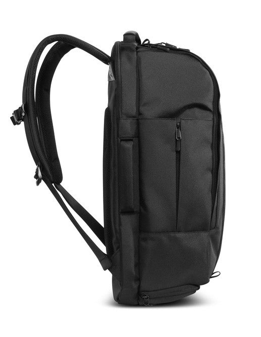 Side of black Aer Duffel Pack rucksack