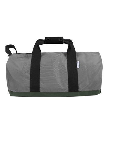 "Related product : OWEN & FRED ""WORK HARD, PLAY HARD"" DUFFEL SILVER"