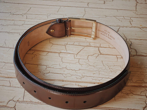 Anatoly's Belts Café Brown Venezia Belt