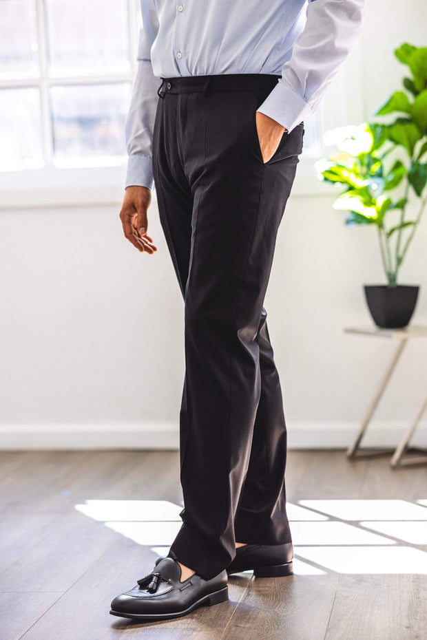 Anatoly's Trousers Black Tollegno Trouser