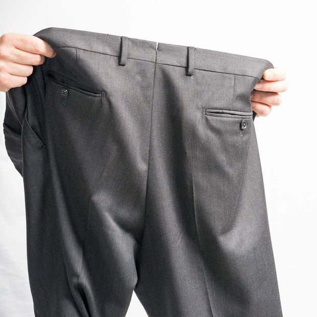 Anatoly's Trousers Charcoal Drago Cavalry Twill Trousers