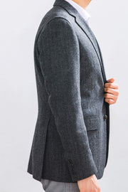 Anatoly & Sons Sport Coats Grey Herringbone Loro Piana Jacket