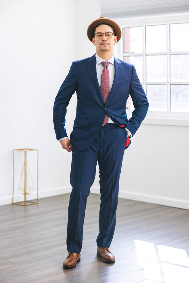 Anatoly & Sons Suits Blue Loro Piana Suit