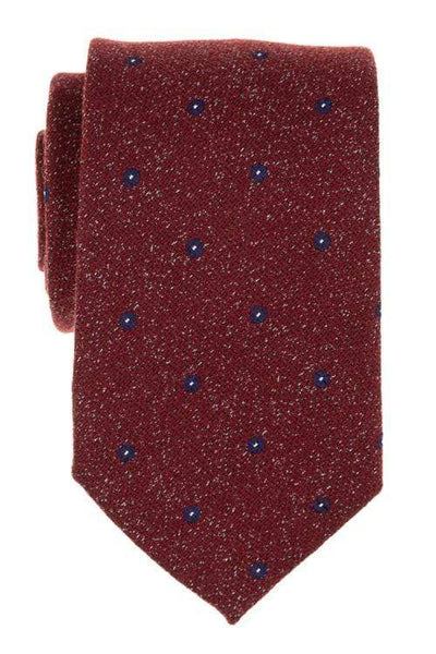 Bocara Tie Regular Red & Blue Dotted Tie