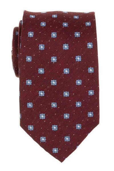 Bocara Tie Regular Red & Light Blue Flower Tie