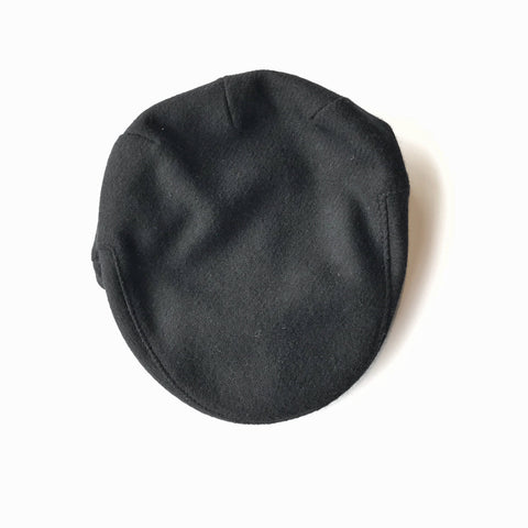 John Hanly Caps Tweed Black Driver Cap