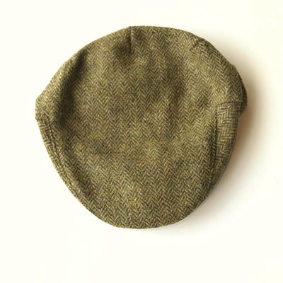 John Hanly Caps Tweed Brown Driver Cap