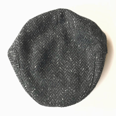 John Hanly Caps Tweed Charcoal Driver Cap