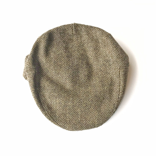 John Hanly Caps Tweed Gold Driver Cap