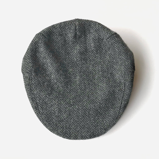 John Hanly Caps Tweed Grey Driver Cap