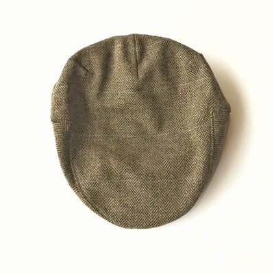 John Hanly Caps Tweed Tan Plaid Driver Cap