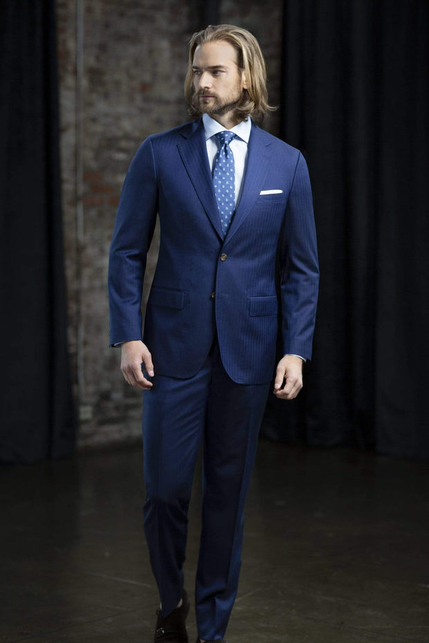 MaxMan Suits MaxDavoli Herringbone Suit