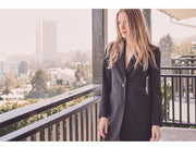 Stretch Cady Elongated Tuxedo Jacket
