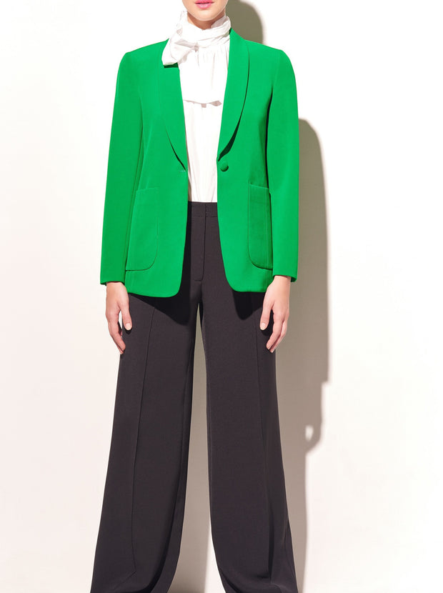 Kelly Green Shawl Collar Cady Blazer